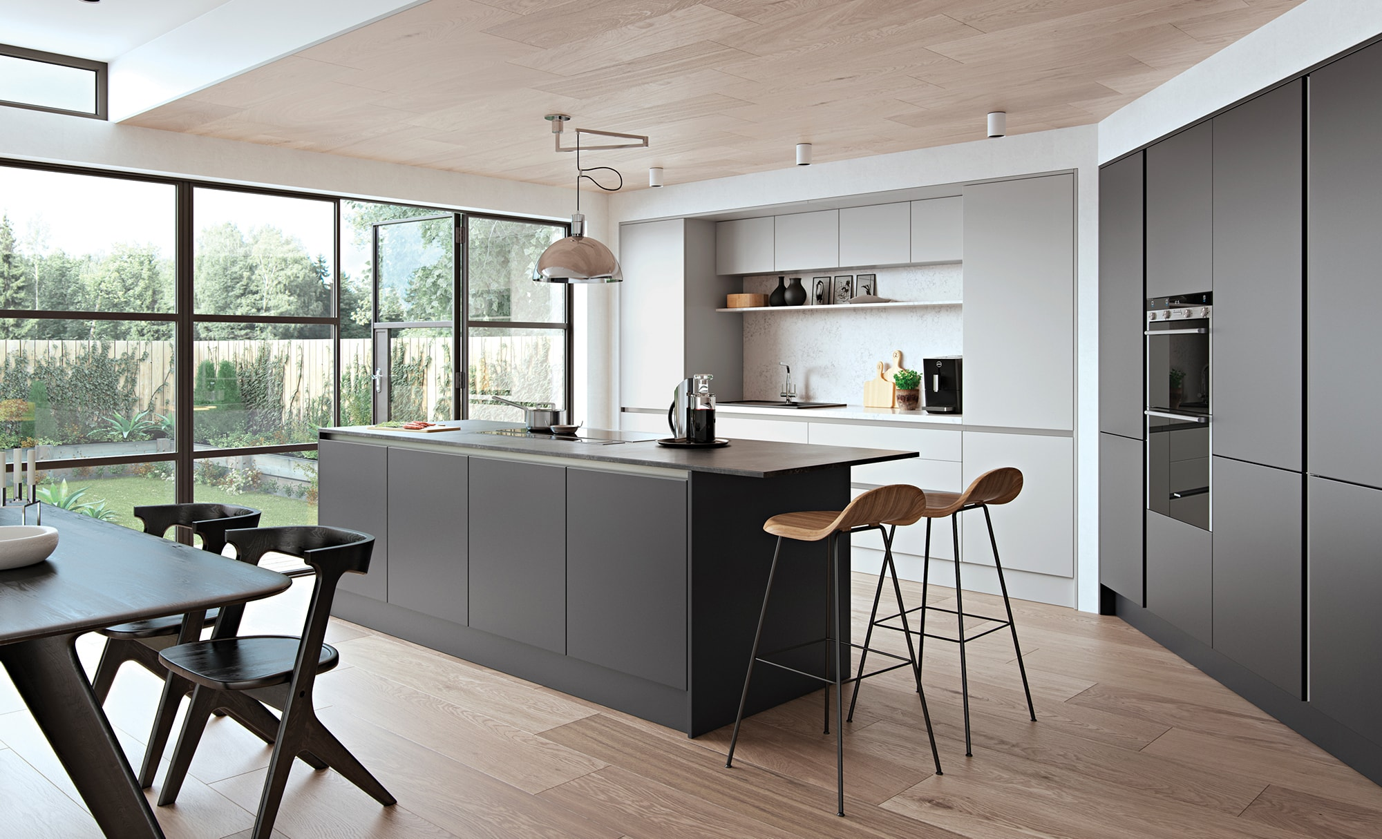 Modern Contemporary Zola Matte Handleless Kitchen From Kitchen Stori