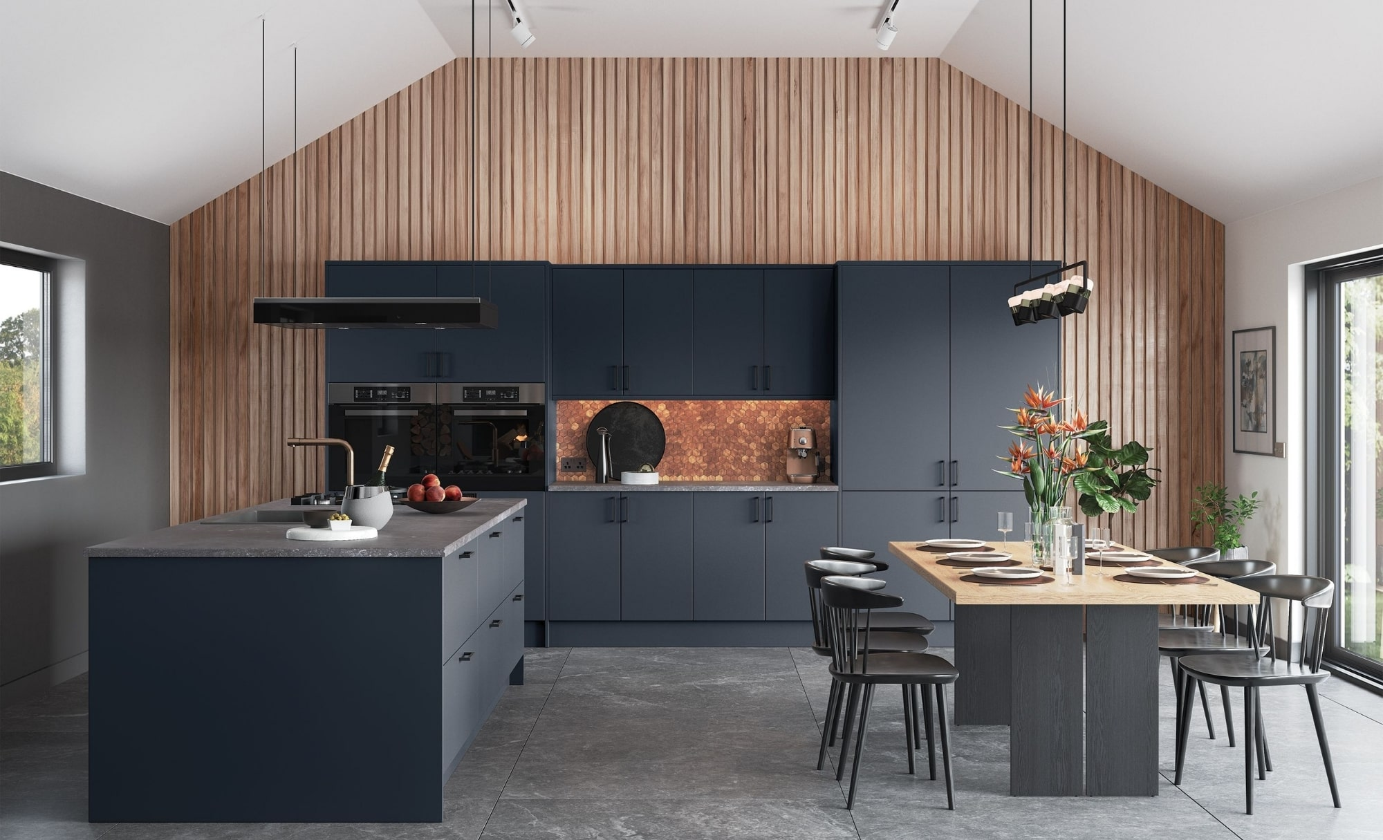 Kitchen Stori Zola Matte Slate Blue Hero
