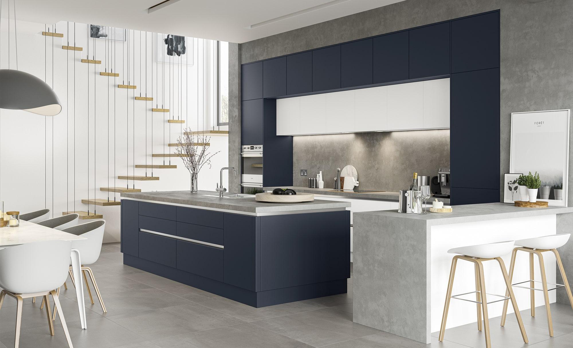 Kitchen Stori Zola Soft Matte Indigo Kitchen Hero