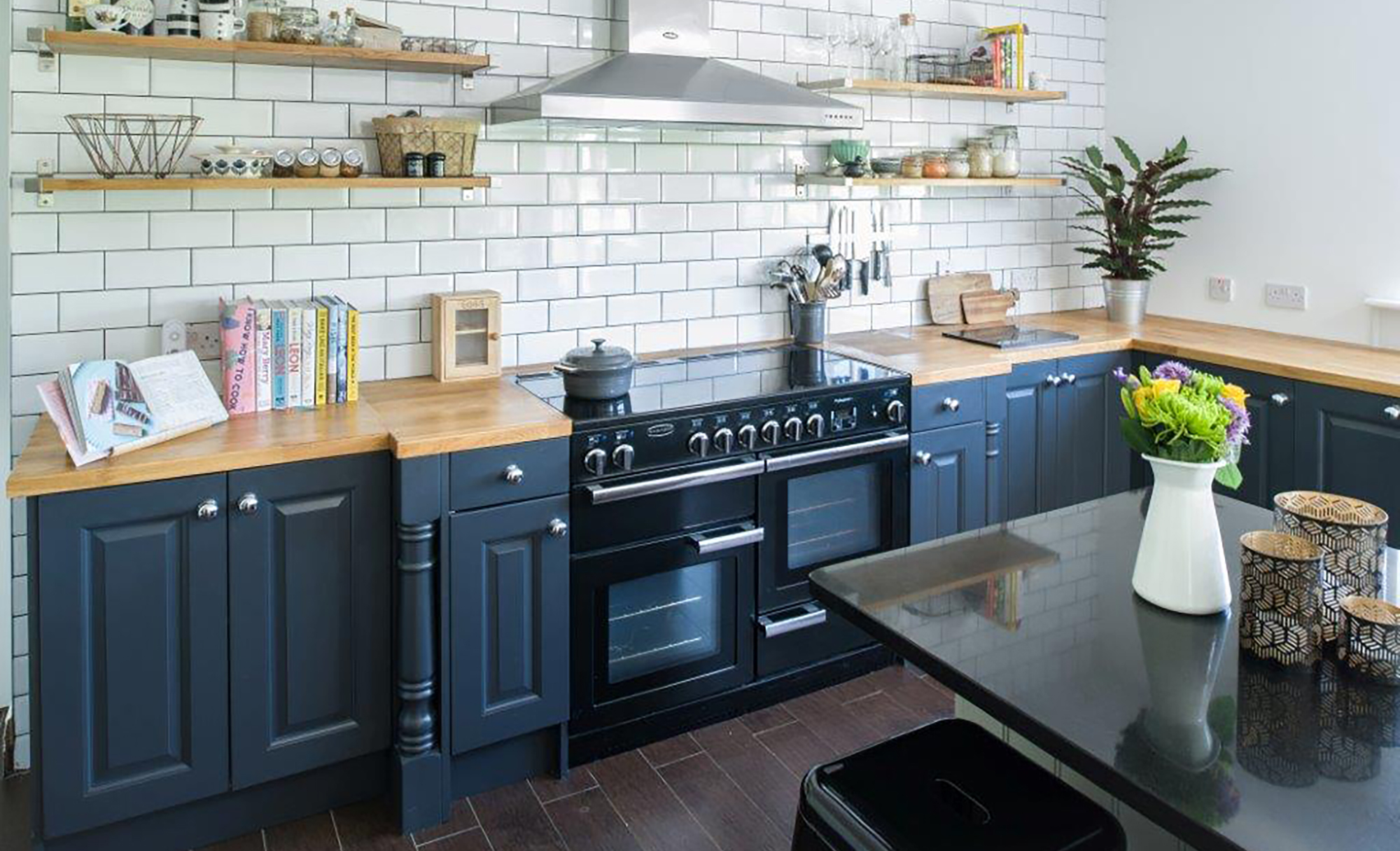 Dante Painted Kitchen in Anthracite, Monk House in Naul, Co.Dublin by Tierney's Kitchens