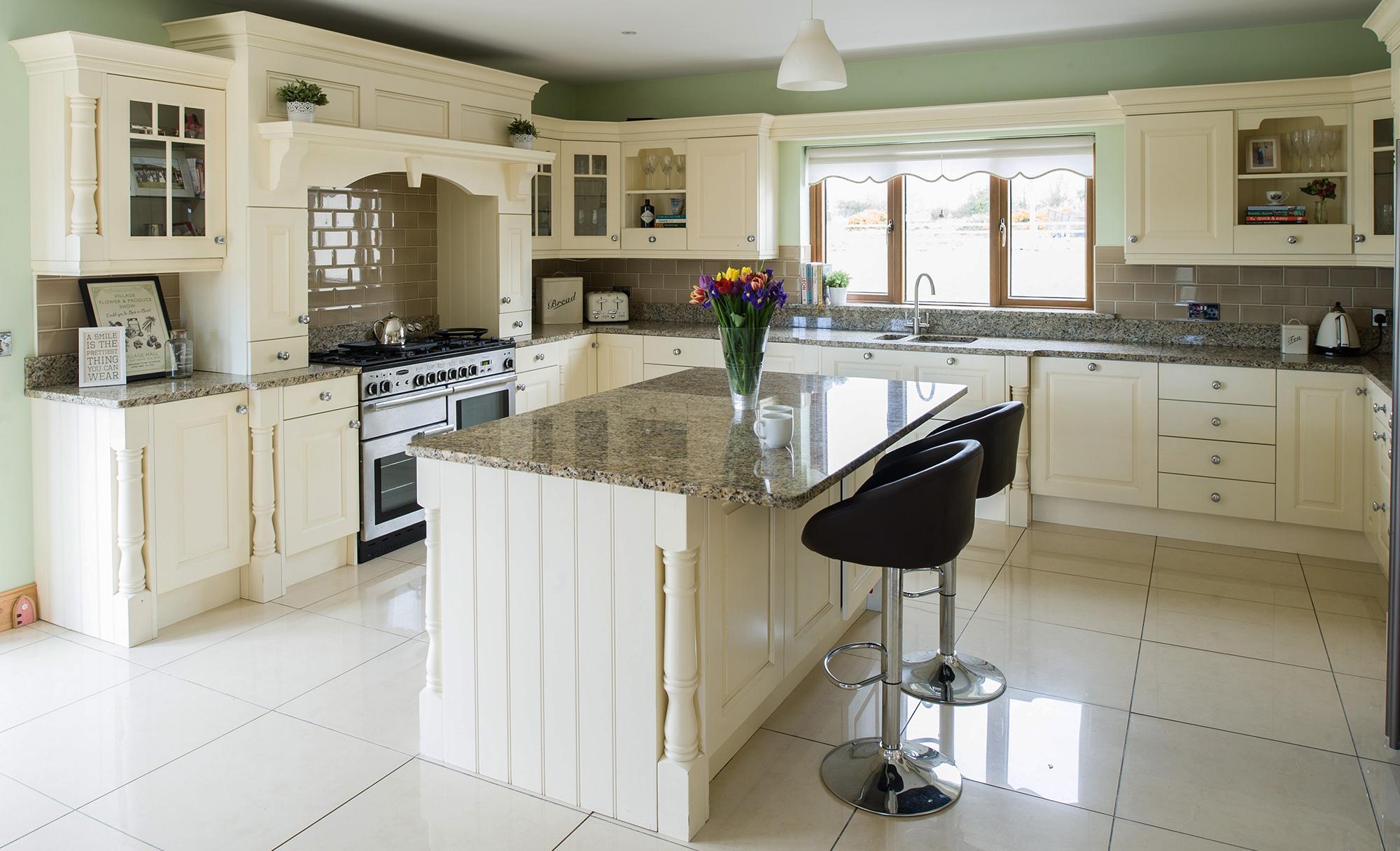 Kitchen Stori Dante Kitchen in Painted Ivory, Harpur House, Co.Dublin