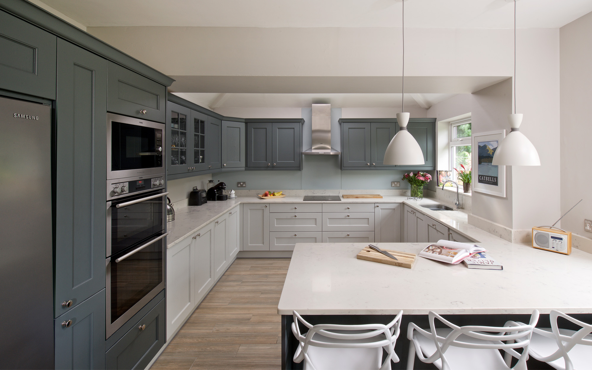 Wakefield Kitchen in Light Grey & Gun Metal Grey