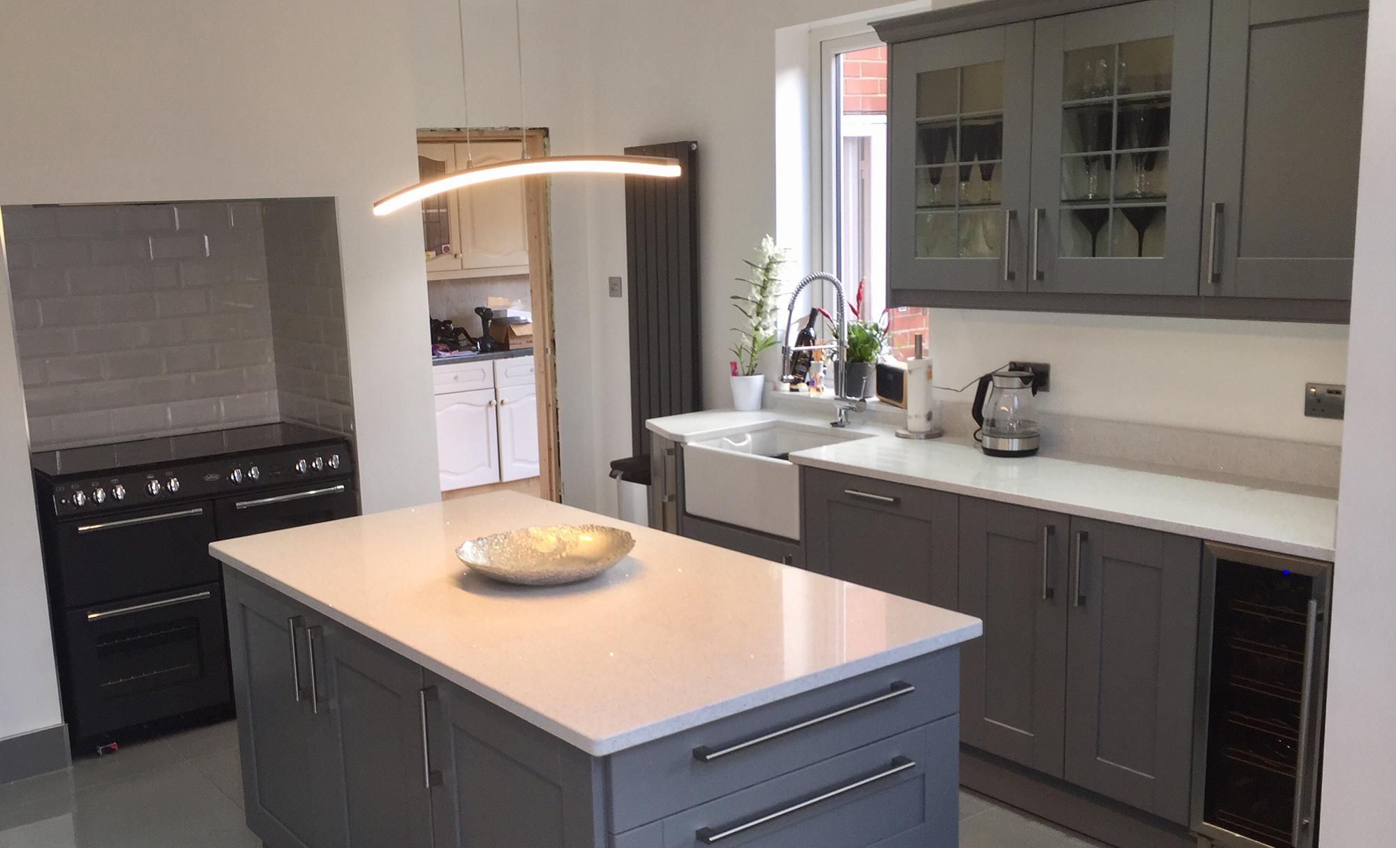 Madison Dust Grey Shaker Style Kitchen from Kitchen Stori